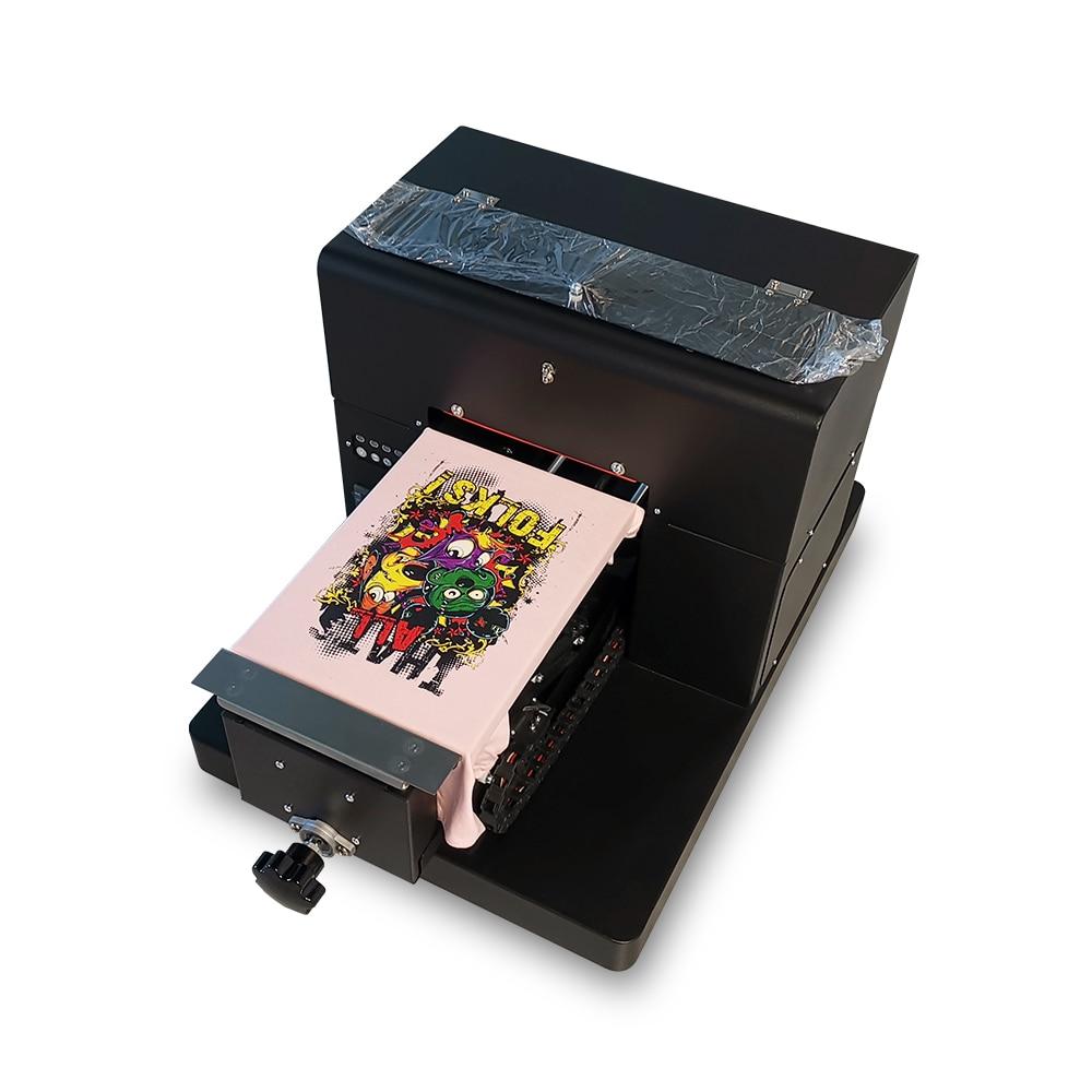 DTG Drucker A4 Größe 6 farben Direct to Garment T-shirt Uv-flachbettdruckmaschine für Dunkle und Licht Kleidung Hohe Qualität