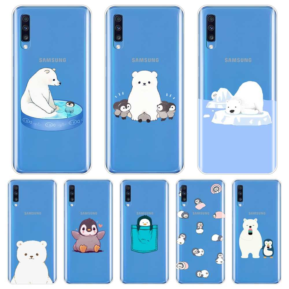 Beer Pinguïn Leuke Silicone Phone Case Voor Samsung Galaxy A10 A20 A30 A40 Soft Back Cover Voor Samsung Galaxy A50 a60 A70 A80 Case