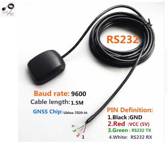 RS232 12V GPS Module Data Acquisition