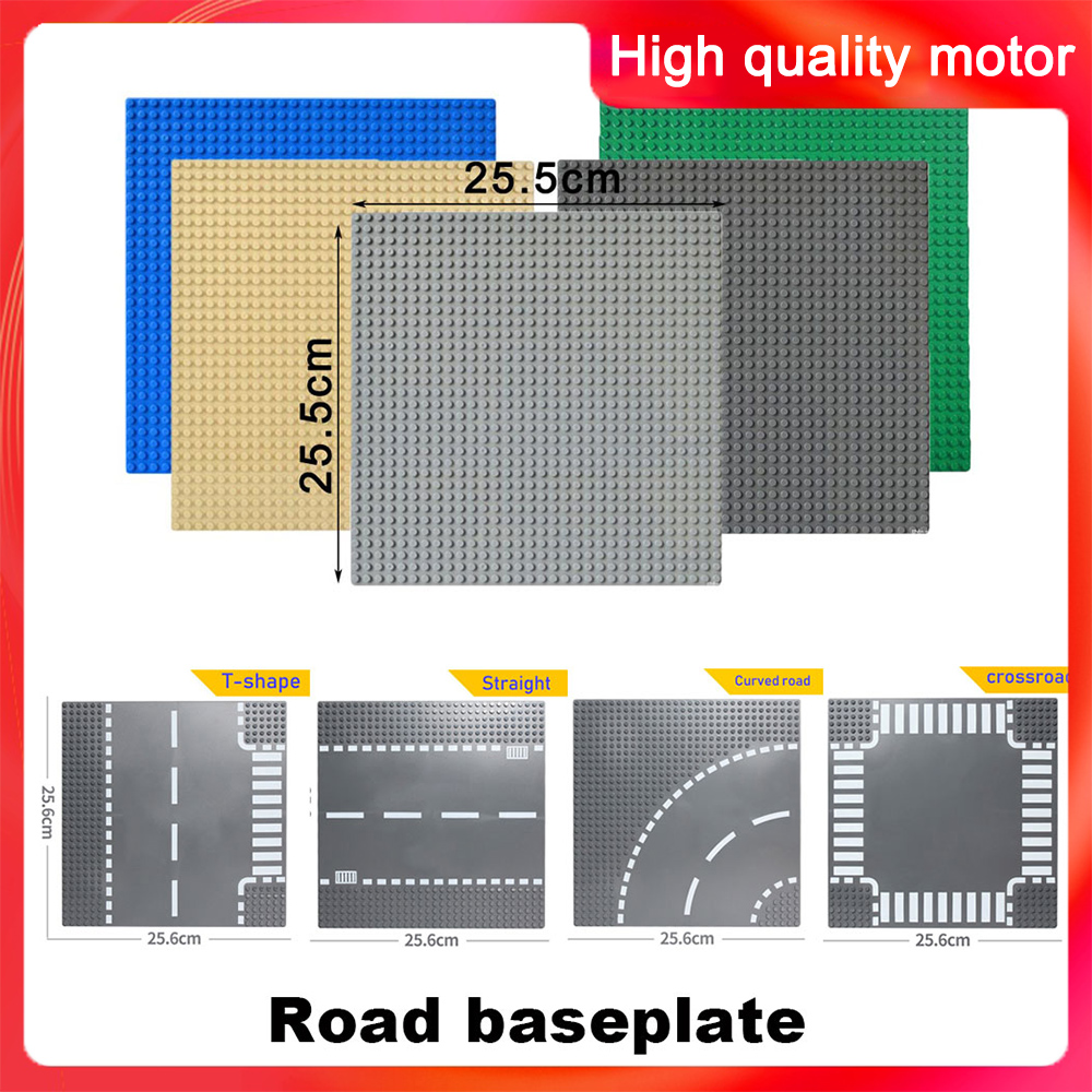 Classic Base Plates Plastic Bricks Baseplates Compatible LegoINGlys Road Dimensions Building Blocks Construction 32*32 Dots