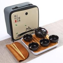 New Chinese Tea Portable Travel Tea Set Kung Fu Tea Set Ceramic Teapot Porcelain Teaset Gaiwan Tea Cups of Tea Ceremony Tea Tool стоимость