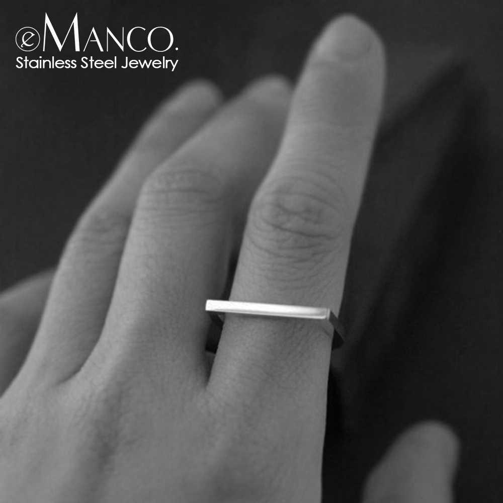 טבעת אצבע 316L נירוסטה טבעות לנשים יוקרה זהב צבע טבעות פשוט Midi טבעות נשים תכשיטים