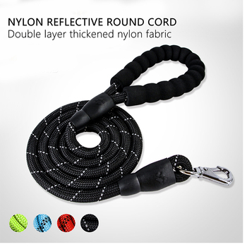 Durable Large Dog Leash Golden Retriever Medium Big Dog Collar Rope Leashes Accessories Dog Strong Dog Lead Reflective Harness