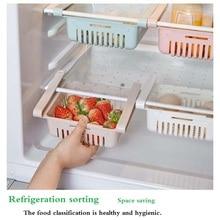Mini ABS DIY Slide lodówka do kuchni zamrażarka do oszczędzenia miejsca organizacja regał magazynowy półka łazienkowa organizator stojaków uchwyt