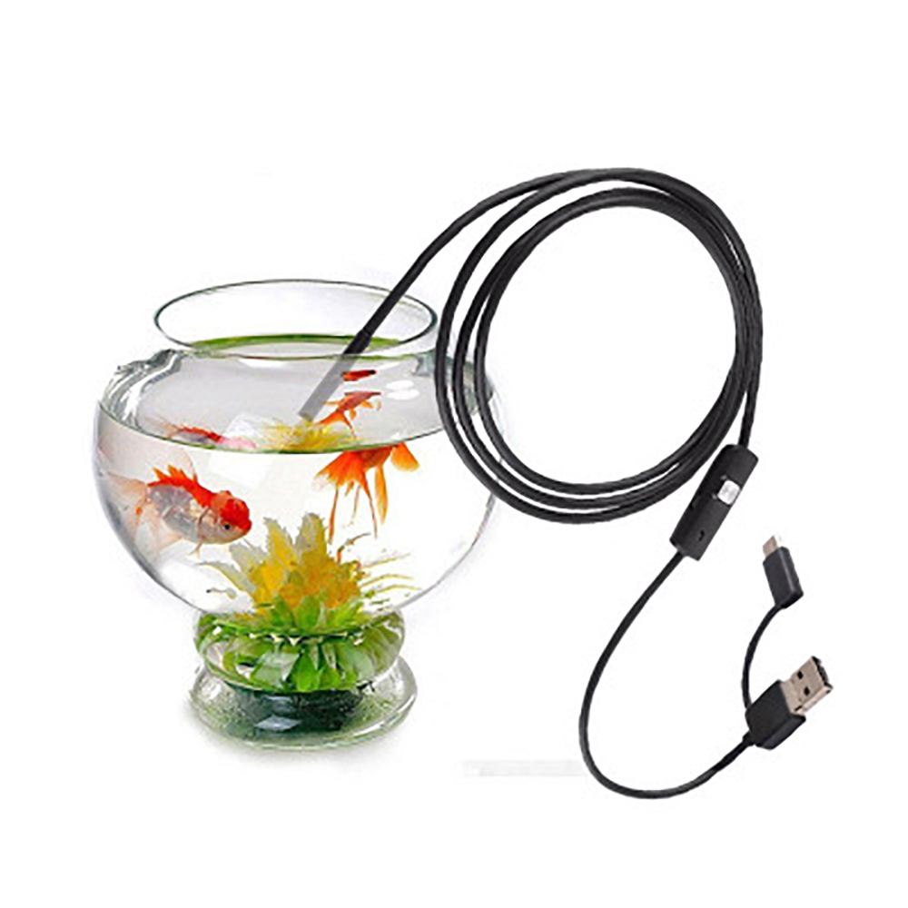 FDBRO 5.5mm-2mType-c Android Mobile Phone Universal Endoscope Sewer Pipe Inspection And Maintenance <font><b>Mini</b></font> <font><b>Spy</b></font> <font><b>Camera</b></font> <font><b>Camera</b></font> Black image