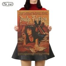Corbata LER pulpa ficción Retro Nostalgia clásica película antigua cartel Kraft pegatinas para la pared de papel