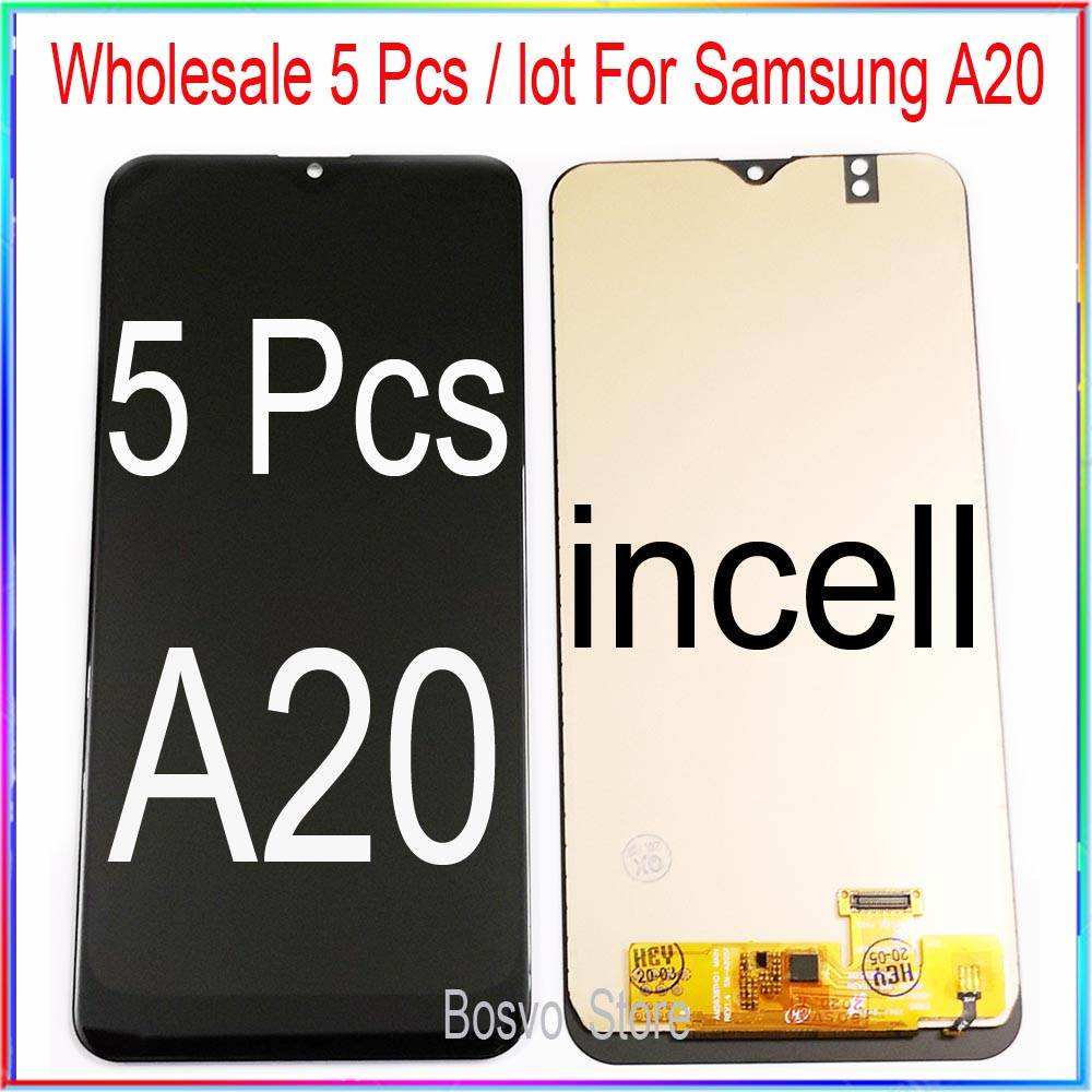 wholesale 5 pieces / lot for Samsung A20 LCD screen display with touch assembly A205 A205F SM-A205F A205FN