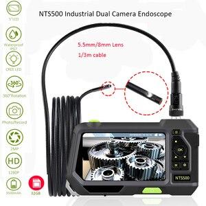 Image 1 - NTS500 5.5 ミリメートル 8 ミリメートルデュアルカメラレンズ 1080 1080P HD 5.0 スクリーン液晶パイプ車検カメラ内視鏡 IP67 ビデオスコープ水中 kamera