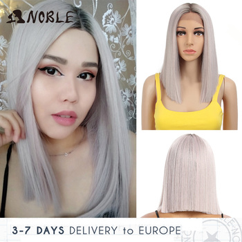 Noble Cosplay Synthetic Lace Front Wig Short Bob Straight 14 Inch Pink Lace Front Blonde Wigs Lace front Wigs For Black Women