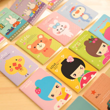 Mini Lovely Cartoon Notebook Diary Book Small Notepad Copy Exquisite Gift Office Supplies Soft Copy Stationery alicia 24 copy mixed display