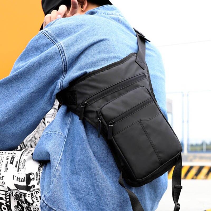 Men Waist Drop Leg Bag Thigh Pack Zipper Multifunction Adjustable For Cycling Outdoors Fashion Male Bag Fanny Pack Belt Bag