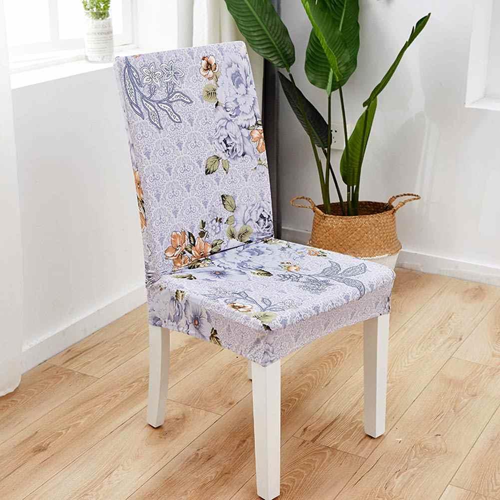 Papa & Mima cubierta elástica de la silla de la cena impresa Spandex restaurante funda de asiento