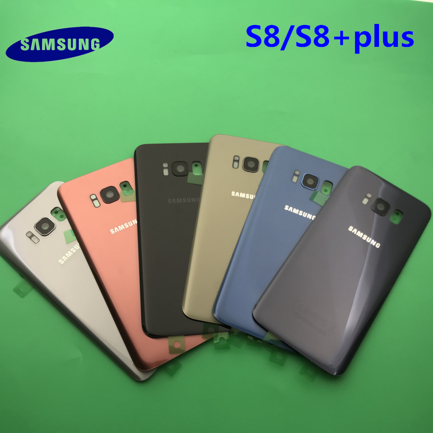 Back Battery Cover Case Samsung Galaxy S8 G950 G950F S8 +plus G955 G955F Rear Door Housing Glass Panel Replacement Part