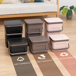 Image 2 - BNBS ถังขยะห้องครัวติดผนังถังขยะของขวัญถุงขยะ Zero ขยะรีไซเคิล Compost Bin ถังขยะห้องน้ำ Dustbin