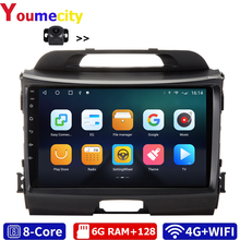6G RAM/Eight Core/Android 10.0 Car Multimedia Player DVD Gps For KIA Sportage R 2008 2019 With DSP Carplay IPS Radio Bluetooth
