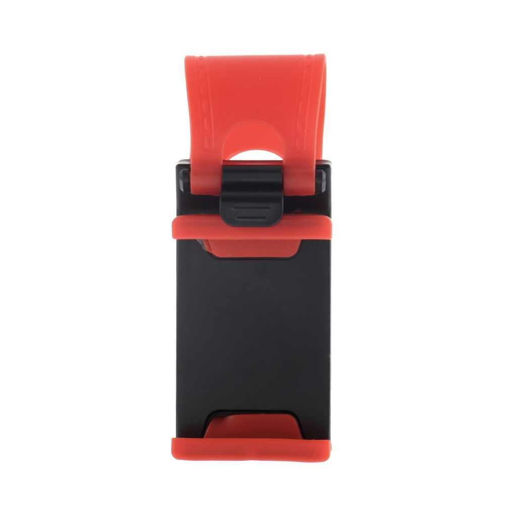 1 قطعة الأحمر عجلة توجيه سيارة كليب حامل كاميرا الهاتف آيفون العالمي ABS قوس حامل هاتف المحمول جبل اكسسوارات