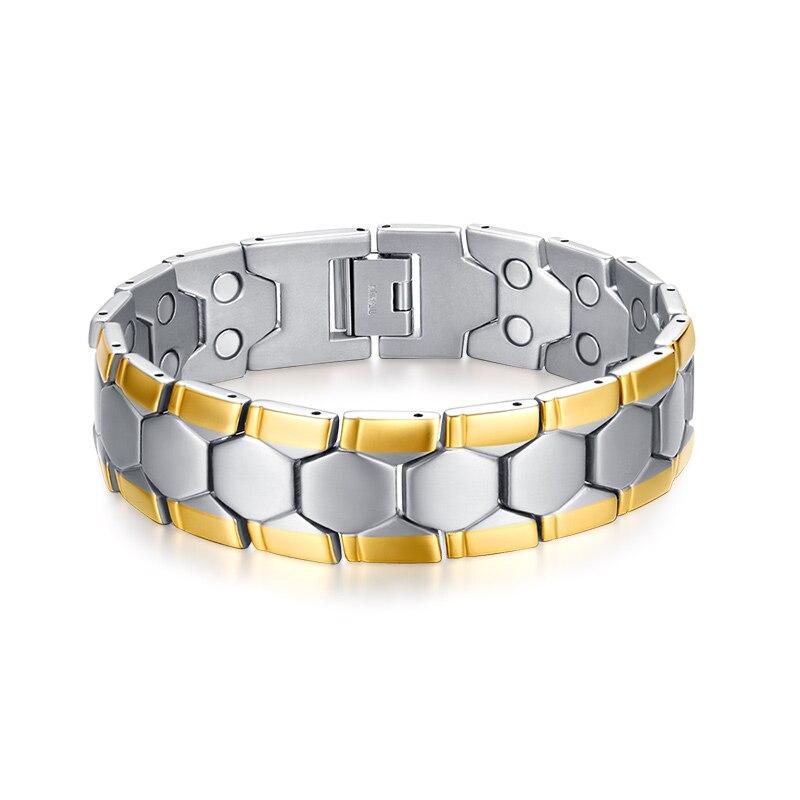 Ouro e Prata Pulseira para Homens Jóias de Aço Coleção Moda Inoxidável Cor 2020