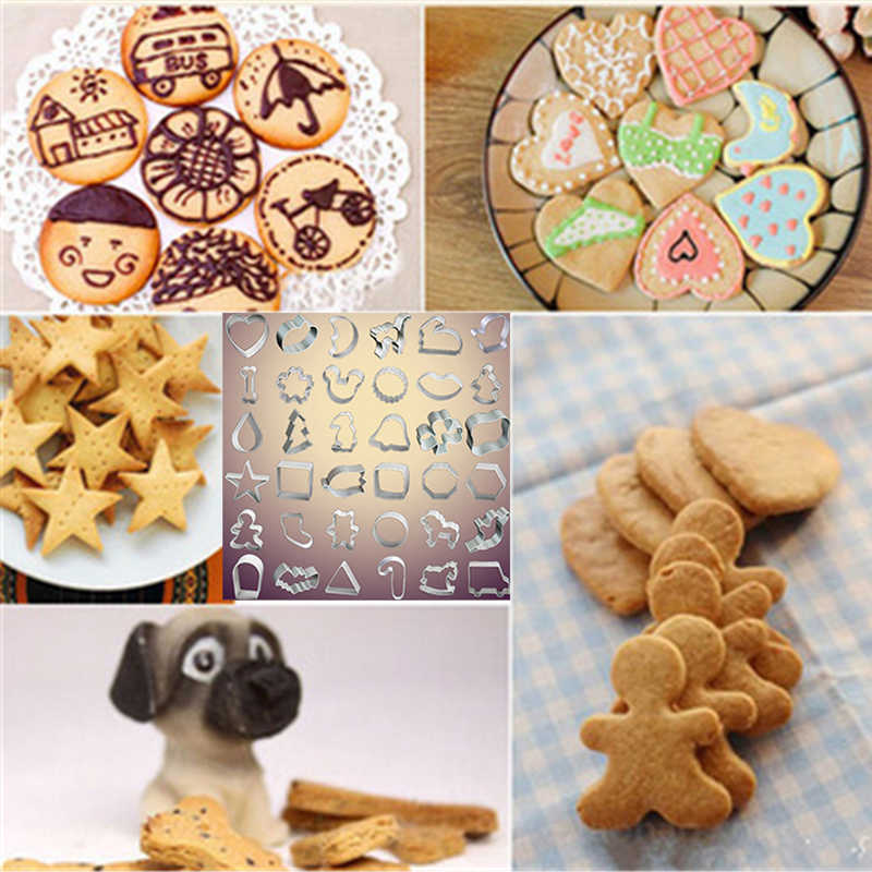Molde de biscoito ferramenta de bolo de aço inoxidável molde de biscoito fondant selos cortadores especializados
