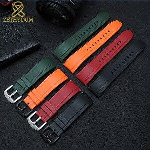 Image 5 - Fluororubber 시계 스트랩 실리콘 고무 팔찌 퀵 릴리스 바 20mm 22mm 24m 시계 밴드 화웨이 시계 브랜드 시계 밴드