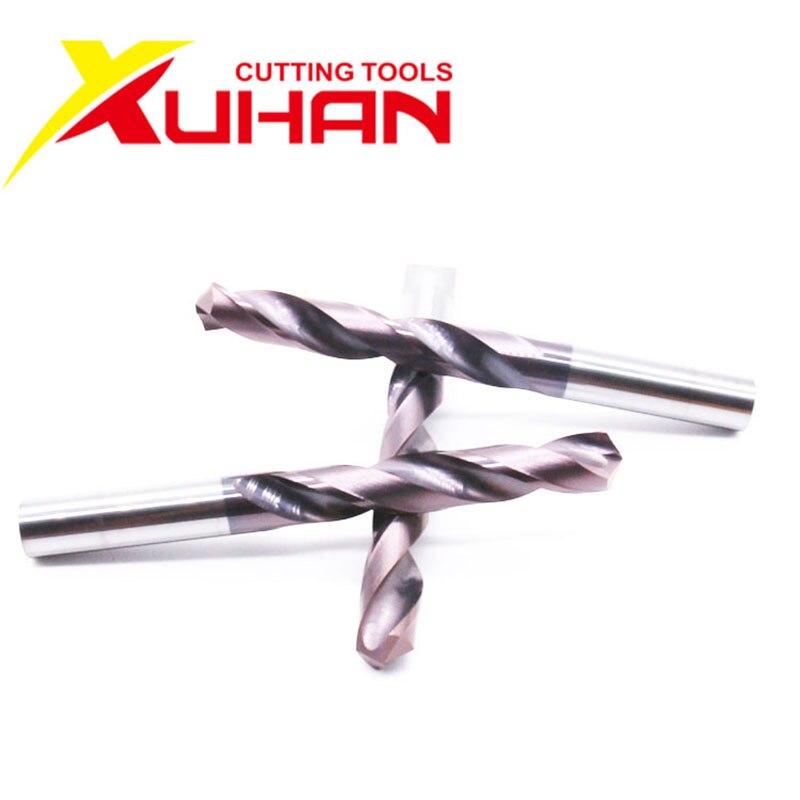 HRC65 Soild Carbide Twist Drill 1pcs 7.1mm-8.0mm Alloy Carbide Milling Tungsten Steel Milling Cutter Drill