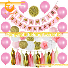 New Girl Birthday Party Theme Decorates Its a Girl Baby Shower Decoration Set Gender Reveal fish net ocean pirate pirate beach theme party wedding kids birthday baby shower gender reveal decoration background photo both