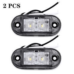 2PCS White Oval Sealed LED Turn Signal and Parking Light Kit for Truck, Trailer (Turn, Stop, and Tail Light)