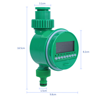 Automatic Garden Watering Irrigation Controller Timer LCD Display Ball Valve With Adjustable Dripper Controller System Home|Garden Water Timers|Home & Garden -