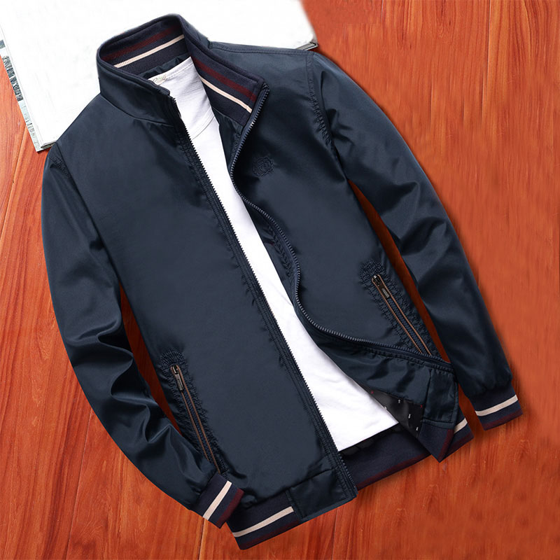 MANTLCONX New Spring Men Jacket Coats Casual Solid Color Jackets Stand Collar Men Business Jacket Brand Clothing Male Outwear 10