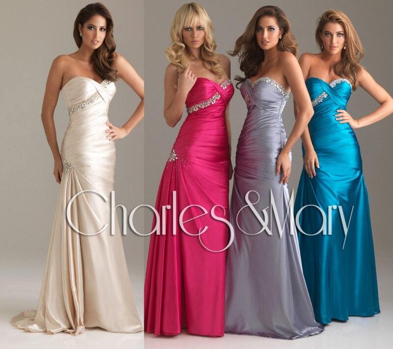 Free Shipping Discount For Sale 2016 NEW Designer Dresses Hot Seller Sweetheart Beaded Sheath Taffeta Mermaid Bridesmaid Dress