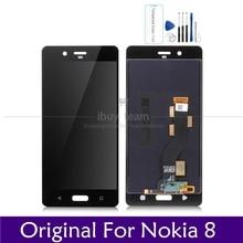 """الأصلي شاشة لنوكيا 8 شاشة الكريستال السائل لوحة شاشة لمس 5.3 """"ل Nokia8 LCD محول الأرقام الجمعية استبدال قطع الغيار إصلاح"""