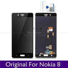 "Original Screen For Nokia 8 LCD Display Touch Screen Panel 5.3"" For Nokia8 LCD Digitizer Assembly Replacement Spare Repair Parts"