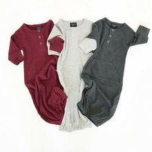 Хлопковые спальные мешки для маленьких мальчиков и девочек, плотное одеяло облегающее платье с длинными рукавами для новорожденных детей 0-6 месяцев
