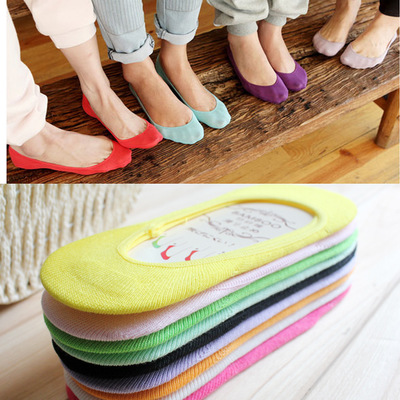 Women's Fashion Socks Slippers Short Colorful Cotton High Quality Women's Boat Socks For Women Invisible 1 Pair