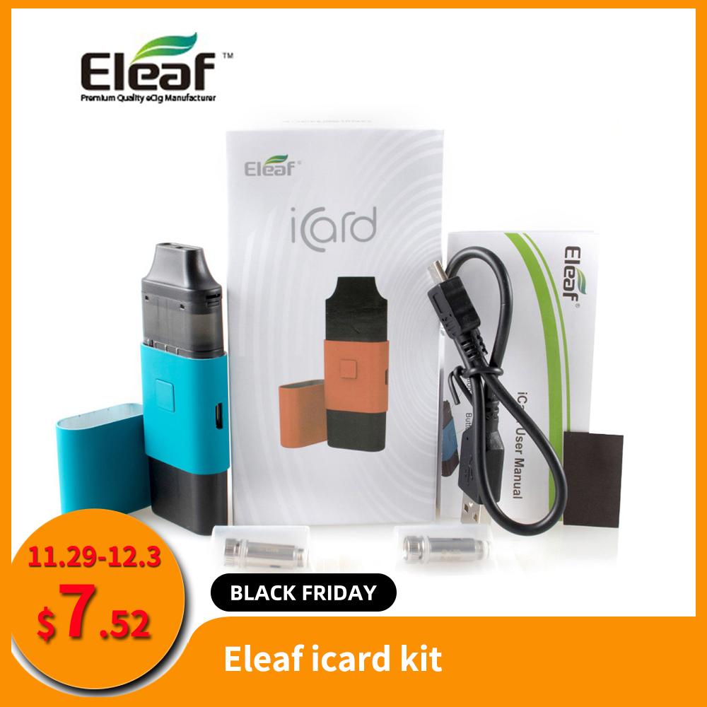RU Original Eleaf ICard Kit With Built In 650mAh 2ml Cartridge And ID 1.2ohm Coil Dual-purpose Cover Vs ICare Mini E-Cig