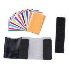 12 pieces color card for Strobist Flash Gel Filter Color Balance with rubber band diffuser Lighting For Canon/Nikon For SONY(China)