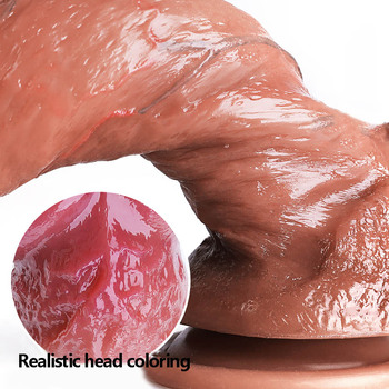 Liquid Silicone Realistic Dildo Skin Feeling Soft Huge Penis Suction 21.5*4.5cm Big Dick Sex Toys For Women Consolador Sex Shop faak skin color realistic dildo soft silicone penis suction sex toys for women adult products big dick lesbian couple flirting