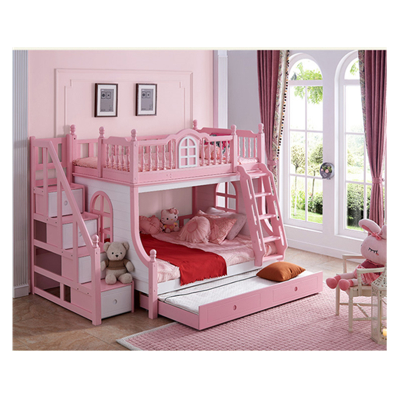 Foshan Modern Oak Wood Children 3 Foors Bed With Stairs Bunk Beds Kids Bedroom Furniture Sets For Boys Girls Beds Aliexpress