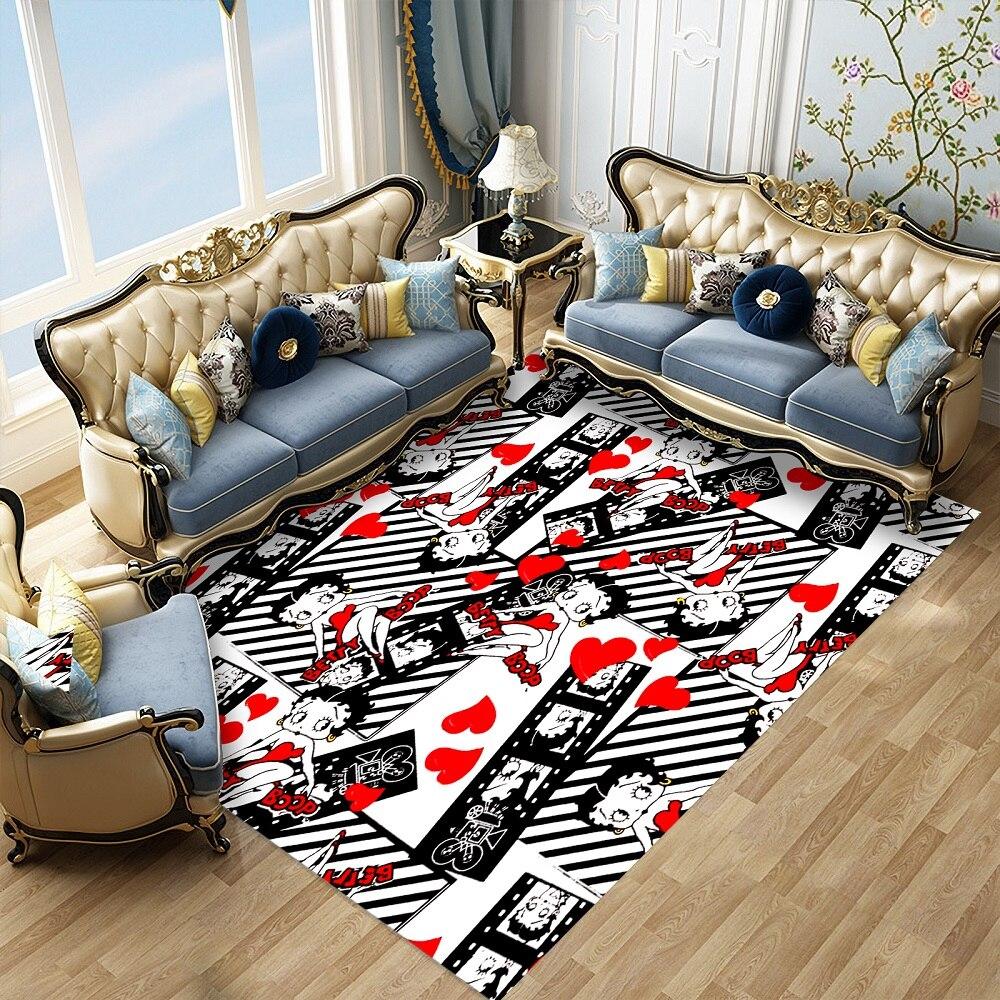 Betty Boop Hallway Doormat Cartoon Character Bedroom Carpet Custom Rectangle Anti-Slip Floor Mat For Living Room Kitchen Mat