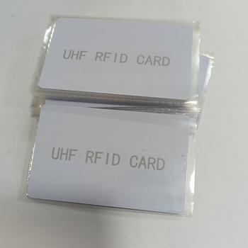 Rfid UHF 6C White PVC PET Card Standard Passive Non-contact Long-Distance Electronic tag H3 Chip size85.5*54*0.84 - sale item IoT Devices