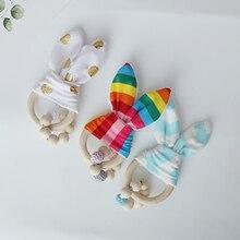 Детский Прорезыватель деревянные цепи соски Прорезыватель для младенцев жевательные Товары для детей YZL025