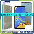 Super AMOLED ЖК-дисплей 6,0 дюйма для Samsung Galaxy A7 2018, A750, A750F, ЖК-дисплей с тачскрином в сборе, сменная деталь