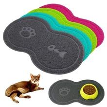 Mat Placemat Cat-Bowl Pet-Feeding Dog Water-Food Dish-Tray Elasticity And PVC Good-Softness