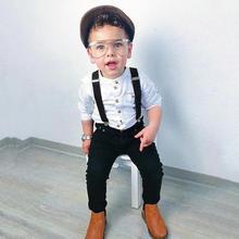Одежда для маленьких мальчиков; Осенняя детская одежда; Одежда для маленьких мальчиков; комплекты джентльменов; рубашка с длинными рукавами; брюки на подтяжках; костюмы