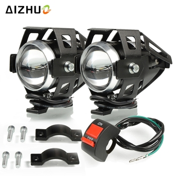 Motorcycle Headlights U5 Headlamp Spotlights Fog Head Light For HONDA XLV 600 650 700 TRANSALP NX 650 FMX 650 XRV650 TRX 300EX image