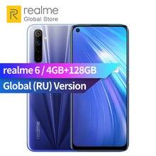 realme 6 Global Version 4GB RAM 128GB ROM Mobile Phone 90Hz Display Helio G90T 30W Flash Charge 4300mAh 64MP Camera Smartphone