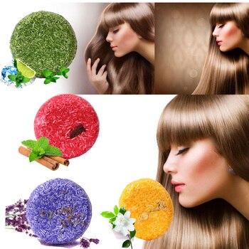 цена 55g Handmade Hair Shampoo Magic Soap Bar Pure Natural Dry Shampoo Soap Oil-control Anti-Dandruff Off Hair Care Shampoo Soap Bar онлайн в 2017 году