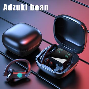 Bezprzewodowy zestaw słuchawkowy Bluetooth zestaw słuchawkowy dla aktywnych Md03 Tws 9d z redukcją szumów wodoodporny wyświetlacz LED z mikrofonem Stereo zaczep na ucho słuchawki tanie i dobre opinie Adzuki bean Zaczepiane na uchu Dynamiczny CN (pochodzenie) wireless 120dB Do kafejki internetowej Słuchawki do monitora