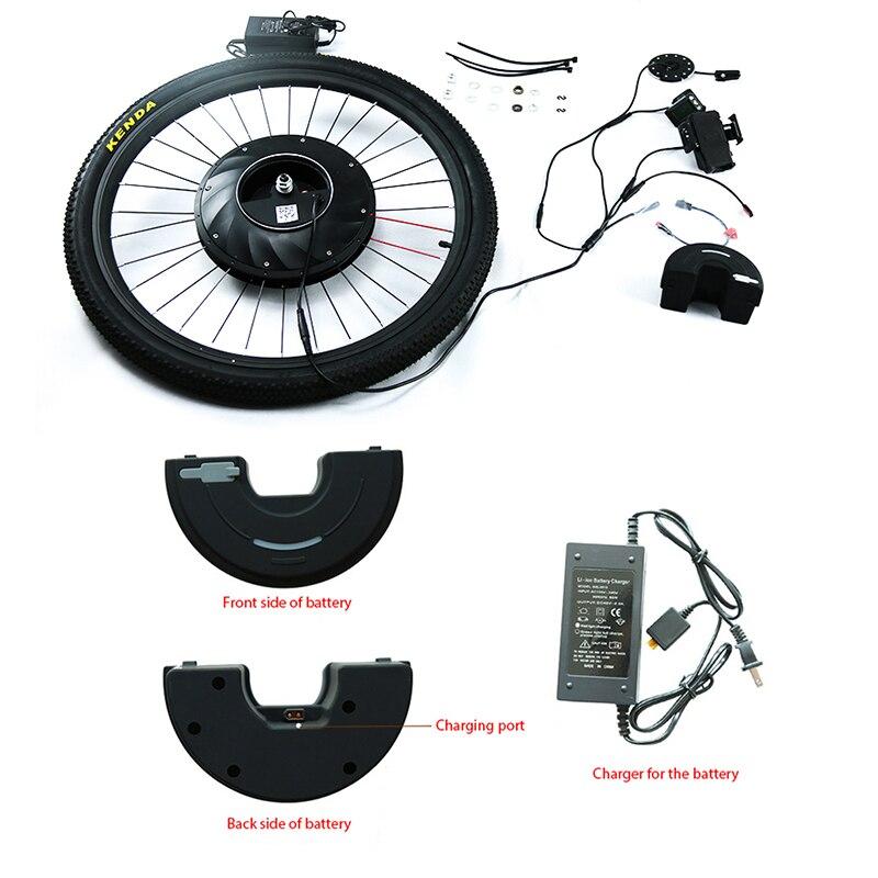Elektrische imotor Conversion Kit Batterie innen USB Bürstenlosen Getriebe Hub Motor Ebike20''24''26''700C Electrico Vorne Motor Rad MTB