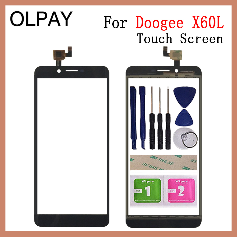 OLPAY 5.5'' 100% New TouchScreen For Doogee X60L Touch Screen Glass Digitizer Panel Lens Sensor Glass Repair Free Adhesive+Wipes