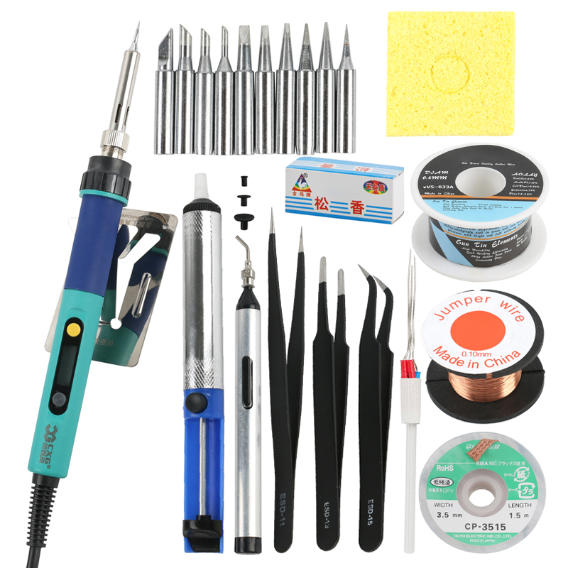 CXG <font><b>Digital</b></font> LCD Adjustable Electric <font><b>Soldering</b></font> Iron <font><b>936d</b></font> <font><b>Soldering</b></font> <font><b>station</b></font> Tool Set Welding Repair Kit image